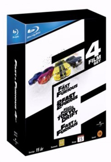 FAST & FURIOUS COLLECTION  - FAST & FURIOUS 1-4 [BLU-RAY]