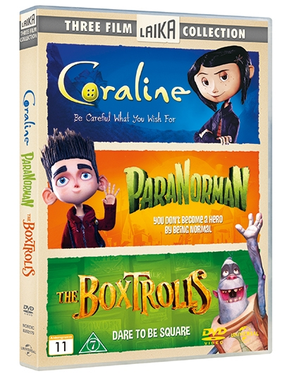 CORALINE+PARANORMAN+THE BOXTROLLS BOX [DVD]