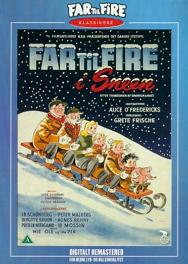 Far til fire i sneen (1954) [DVD]