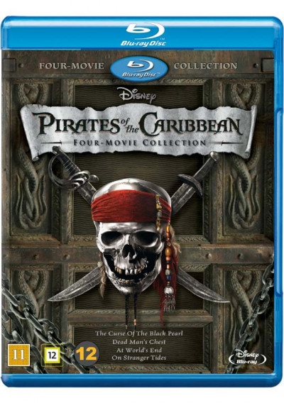 PIRATES OF THE CARIBBEAN 1-4 (BLU-RAY)